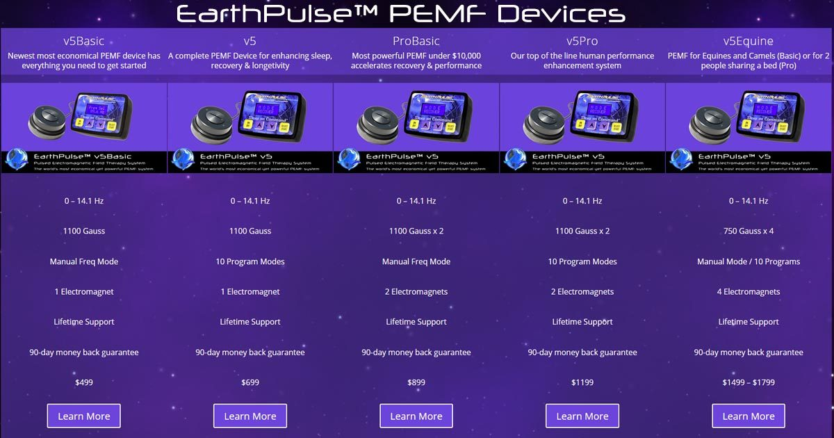 Pulsed Electromagnetic Field PEMF device by EarthPulse