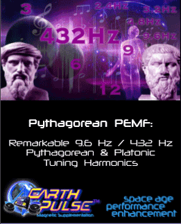 benefits of 432 hz pythagorean tuning using PEMF therapy