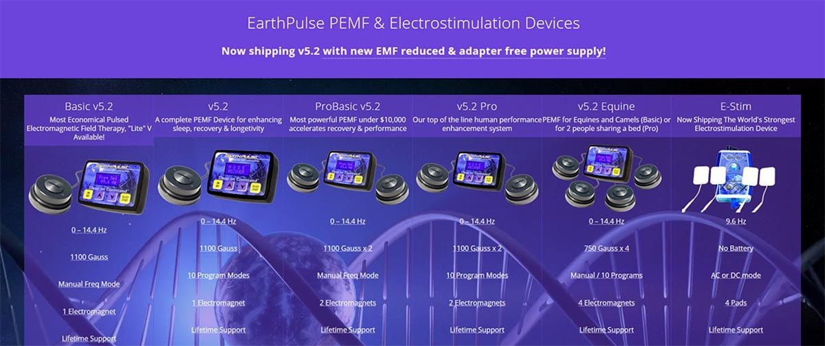 electrical stimulation and pulsed electromagnetic field therapy devices by EarthPulse