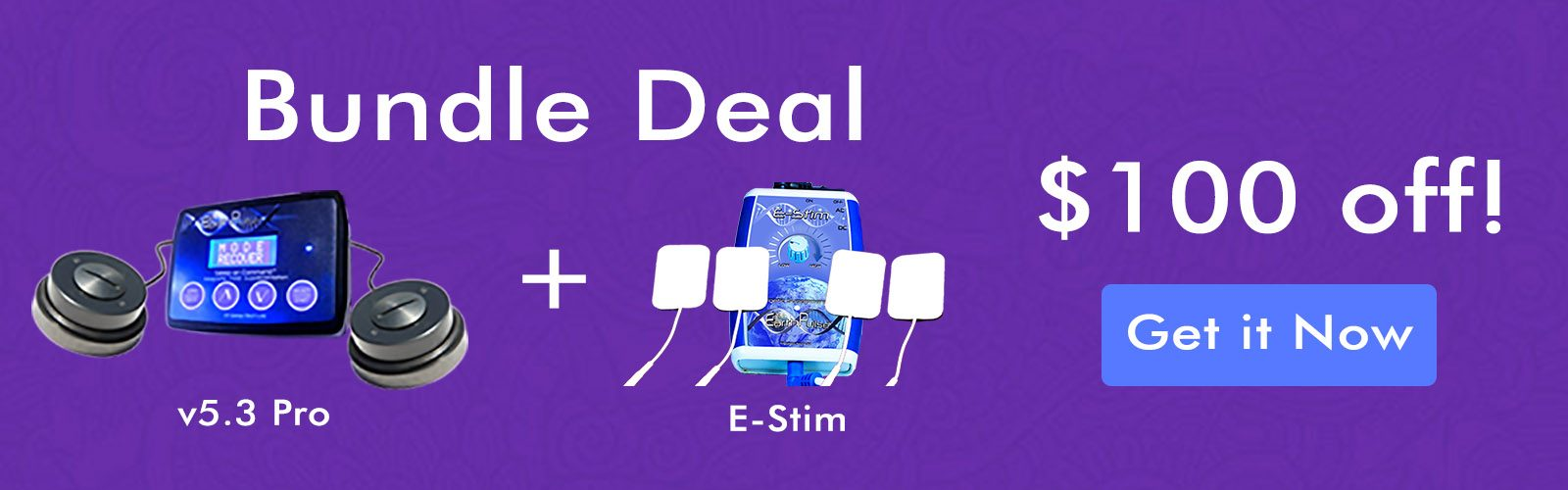 PEMF Therapy and electric stim devices bundle discount offer